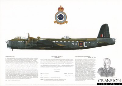 Short Stirling MkI R9257 MG - C. by M A Kinnear.