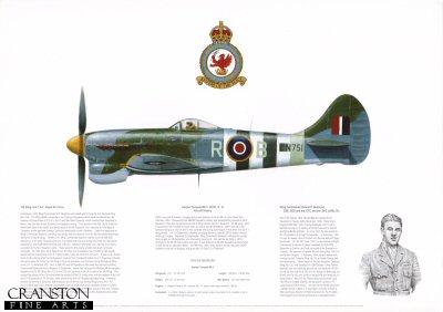 Hawker Tempest Mk V JN751 R-B. by M A Kinnear.