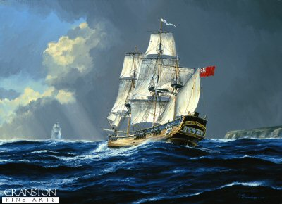 HMS Bounty, Farewell to England by Anthony Saunders (GL)
