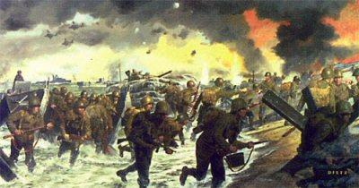Overlord, Utah Beach 6th June 1944 by James Dietz.