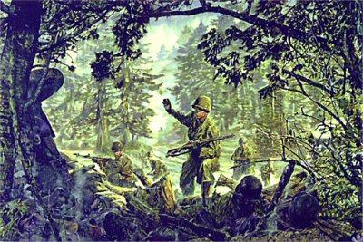 Huertgen Forest Patrol by James Dietz.