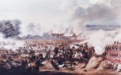 Waterloo, Charge of the French Cavalry by Dennis Dighton. (B)