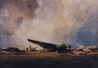 Gliders at Caen by Frank Wootton.
