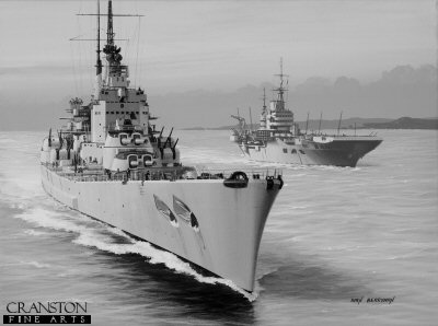 HMS Vanguard by Ivan Berryman.