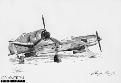 Fw190F Fighters - Winter 1943 by Ivan Berryman. (P)