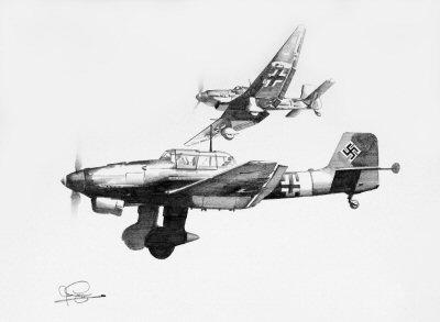 Stuka - Tribute to Hans Rudel by Ivan Berryman.