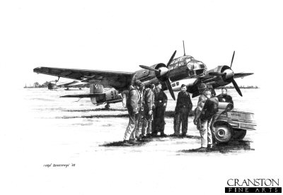 Ju88A-4 and Crew by Ivan Berryman. (B)