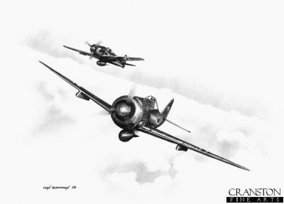 B0239. Focke Wulf Fw190A-4/U8 by Ivan Berryman. <p> Fw190A-4/U8 night bomber variant of SKG.10.<b><p>Signed by Kurt Dahlmann. <p>Signed limited edition of 35 prints. <p> Image size 12 inches x 9 inches (31cm x 22cm)