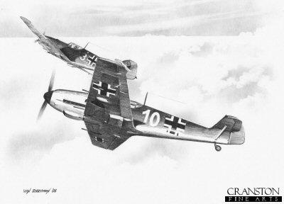 Bf109Es of JG52 by Ivan Berryman.