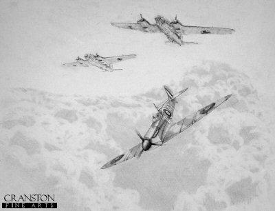 Wing Commander Bob Doe during the Battle of Britain by Graeme Lothian. (P)