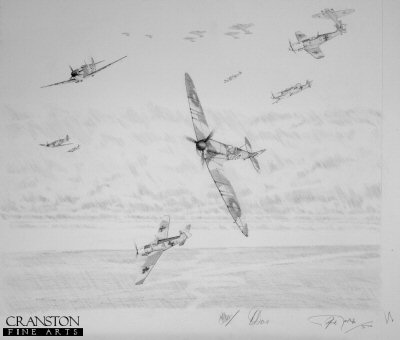 Spitfires of No.54 squadron during the Battle of Britain by Graeme Lothian. (P)