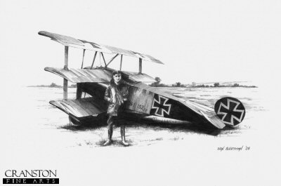 Manfred von Richthofen by Ivan Berryman. (P)