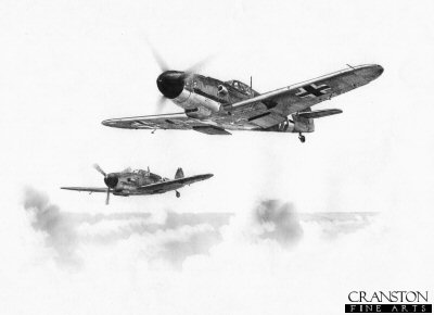JG2 - Gunther Rall and his Wingman by Ivan Berryman.
