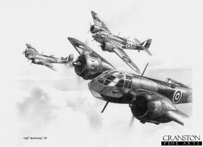 Mk.I Blenheims of No.141 Sqn by Ivan Berryman. (B)