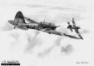 Fairey Battle, 218 Squadron by Ivan Berryman. (P)