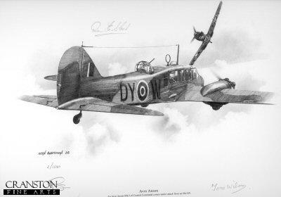 Avro Anson by Ivan Berryman.