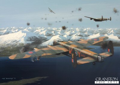Raid on the Tirpitz by Ivan Berryman. (P)
