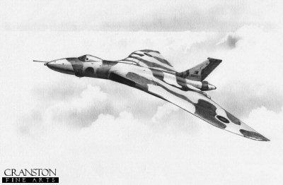Falklands Vulcan by Ivan Berryman.