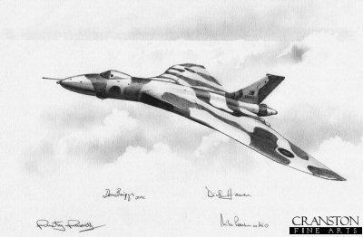 Falklands Vulcan by Ivan Berryman. (P)