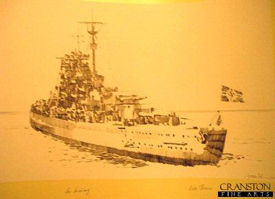Bismarck Leaving Port by Jason Askew. (P)