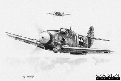 Hans-Ekkehard Bob, Bf109F by Ivan Berryman.