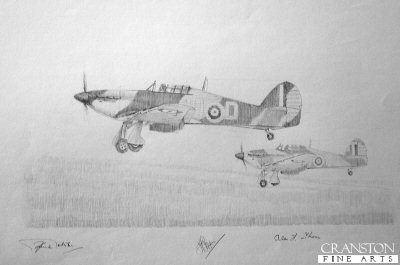 Battle of Britain Hurricanes by Graeme Lothian. (P)