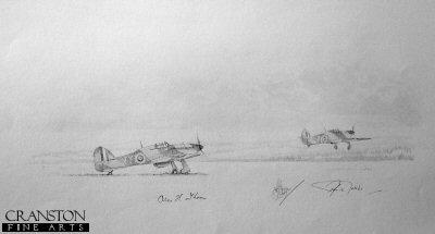 Hurricanes - 85 Squadron by Graeme Lothian. (P)