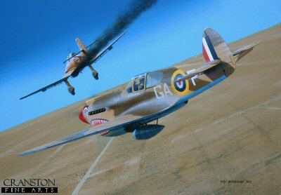 Tribute to Squadron Leader Billy Drake by Ivan Berryman. (GS)