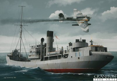 Tribute to the Royal Navy Trawler Crews - HMS Arab by Ivan Berryman. (P)