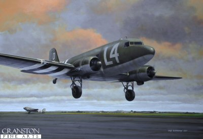101st Airborne en route to Normandy by Ivan Berryman.