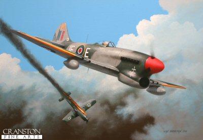 Tribute to Flt Lt Pierre Clostermann by Ivan Berryman. (B)