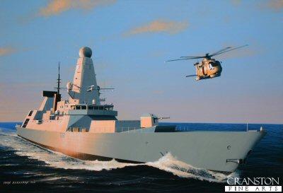 HMS Daring by Ivan Berryman.