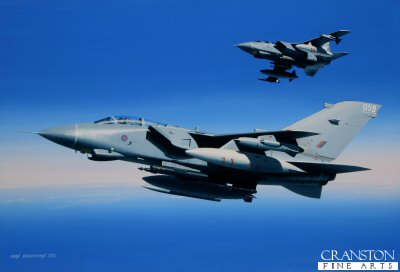 Destination: Libya.  Tornado GR.4s of 9 Squadron by Ivan Berryman.