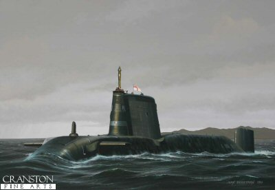 HMS Astute by Ivan Berryman.