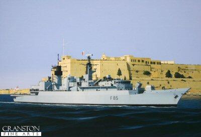 HMS Cumberland by Ivan Berryman. (GS)