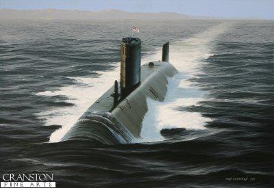 HMS Trafalgar by Ivan Berryman. (P)