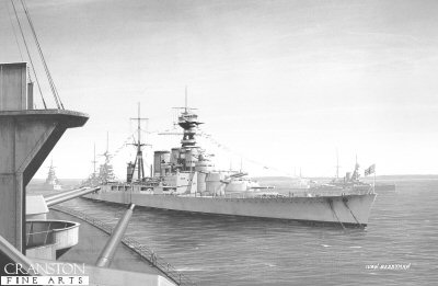 HMS Hood During the Fleet Review of 1935 by Ivan Berryman.