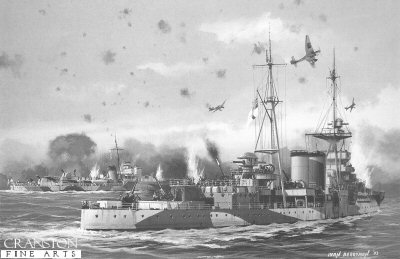HMS Coventry by Ivan Berryman.
