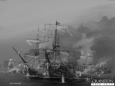 The Battle of Trafalgar, 2.30pm.  The Taking of the Santisima Trinidad by Ivan Berryman