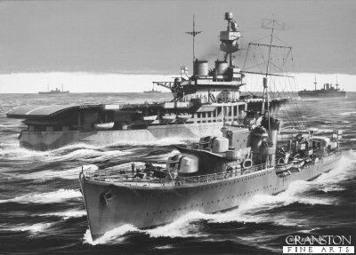 HMS Kelly by Ivan Berryman.