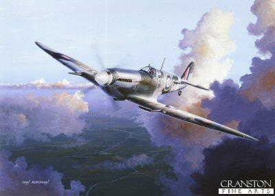 Print Spitfire Mk Ia by G. Marie F//O Tony Lovell 1940 No 41 Squadron RAF
