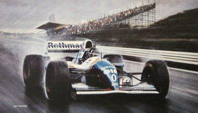 Damon Hill/ Williams FW.16 by Ivan Berryman