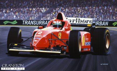 Eddie Irvine/ Ferrari F.310. by Ivan Berryman.