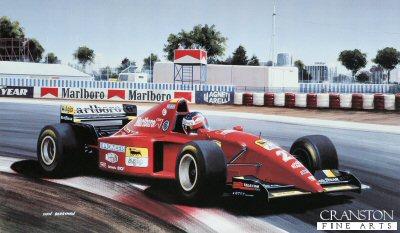 Jean Alesi/ Ferrari 412 by Ivan Berryman.