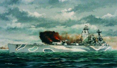 HMS Rodney by Ivan Berryman