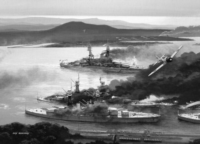 Attack on Pearl Harbor by Ivan Berryman