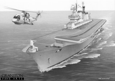 HMS Ark Royal by Ivan Berryman.
