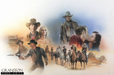 Original art for the book Texas Brazos by Chris Collingwood.
