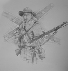 Confederate Infantryman by Chris Collingwood.