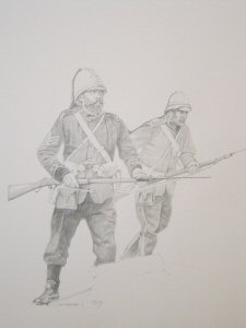 To the Meallie Bags, Rorkes Drift by Chris Collingwood. (P)